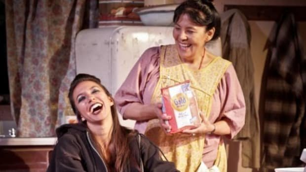 """Elizabeth Frances (Lily), Jane Lind (Jessie) in """"The Frybread Queen"""""""