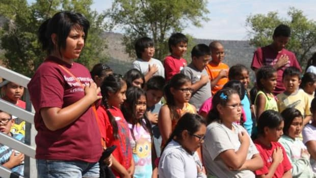 The first day of the youth conference hosted youth ages 8 to 13 and began with an opening prayer led by Miss White Mountain Apache Shasta Dazen.