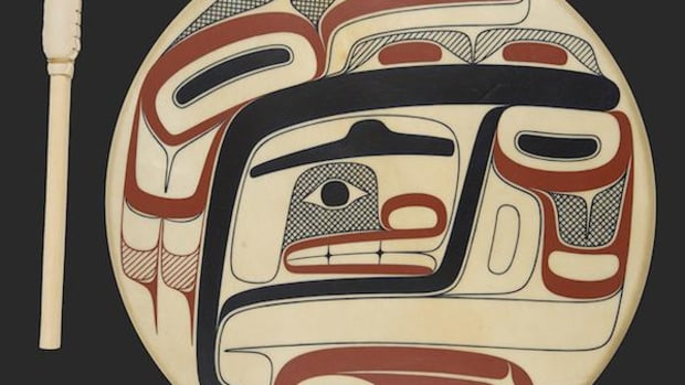Tsimshian artist David R. Boxley won the top two awards: Best of Show and Best of Formline for his piece Txaamsem, above.