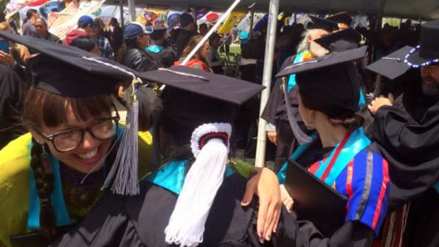 Native students of all nations dressed in their finest tribal finery On May 14th   in Santa Fe, for the Institute of American Indian of Arts 2016 graduation ceremony