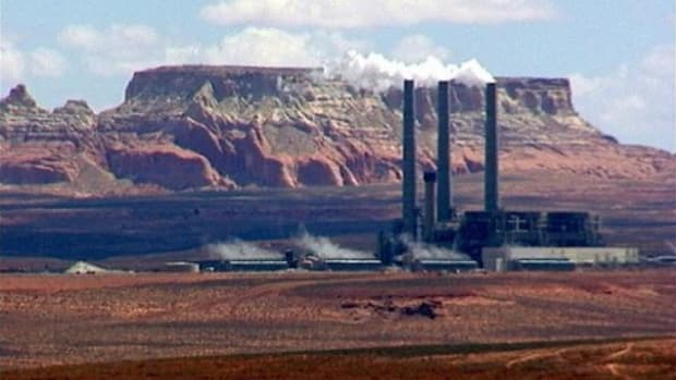 The Navajo Generating Station, one of several coal-fired power plants on or near Navajo territory.