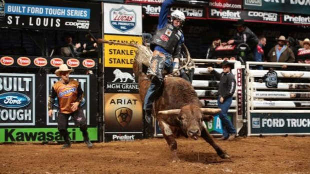 Dirteater, 26, is currently ranked 29th in the Professional Bull Riders' Built Ford Tough Series world standings and is approaching $1 million in career earnings.
