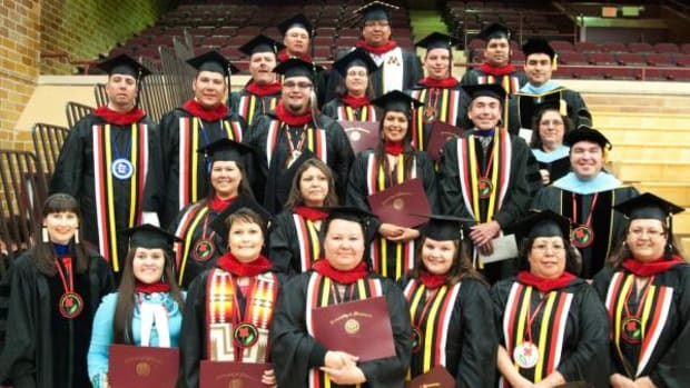 Members of the master of tribal administration and governance program at graduation.