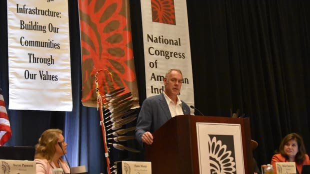 Tribal Sovereignty, National Congress of American Indians, NCAI, Brian Cladoosby, Fawn Sharp, Ryan Zinke, Tribal self-determination, Tribal self-governance, self-determination, self-governance, Chris Murphy, Mohegan Tribe, Mohegan Sun, Swinomish Indian Tribe, Jacqueline Pata, Chickasaw Nation, Jefferson Keel, Fawn Sharp, Quinault Indian Nation, Juana Majel Dixon, Pauma Tribe, Native American Students, Secretary of the Interior, Department of the Interior, Bureau of Indian Affairs, Bureau of Indian Education, Ohkay Owingeh Pueblo, United Tribes Technical College