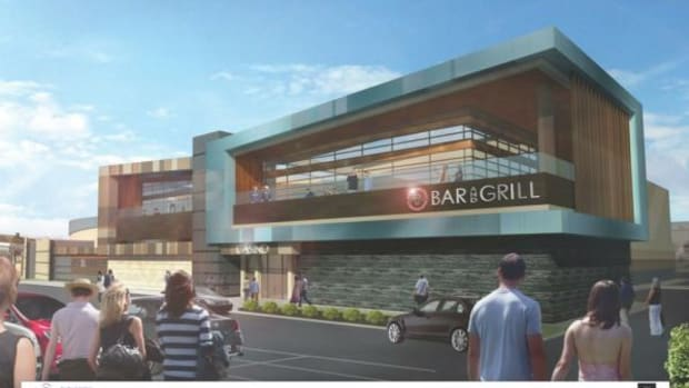 Artist renderings of the exterior of the expanded Seneca Buffalo Creek Casino
