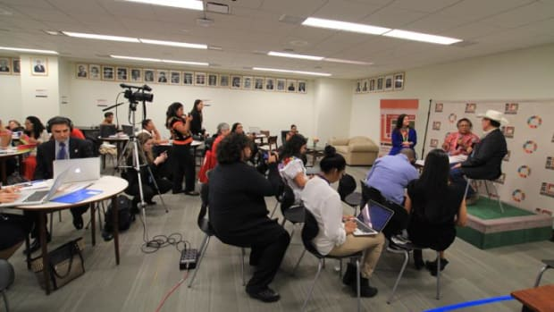 For the first time, a special media zone was set aside to give indigenous news outlets access to speakers and officials at this year's session of the U.N. Forum on Indigenous Peoples.