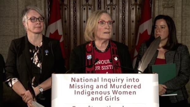 Left, Status of Women Minister Patty Hajdu, Indigenous Affairs Minister Carolyn Bennett, and Justice Minister Jody Wilson-Raybould lay out their plans on how the national inquiry into missing and murdered indigenous women will proceed. Step one is consultation with the families.