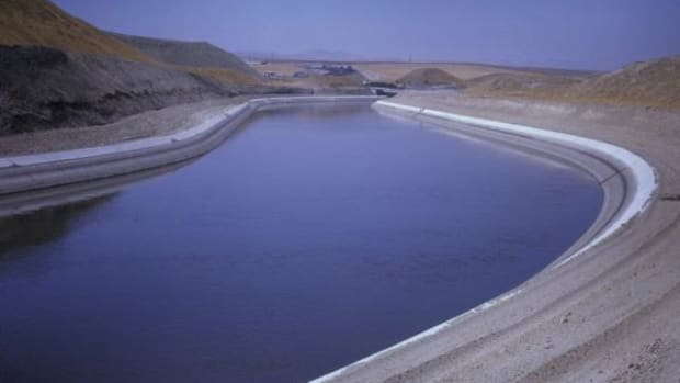 The 117 mile-long Delta Mendota Canal delivers Delta water to Westlands Water District and other San Joaquin Valley water contractors.