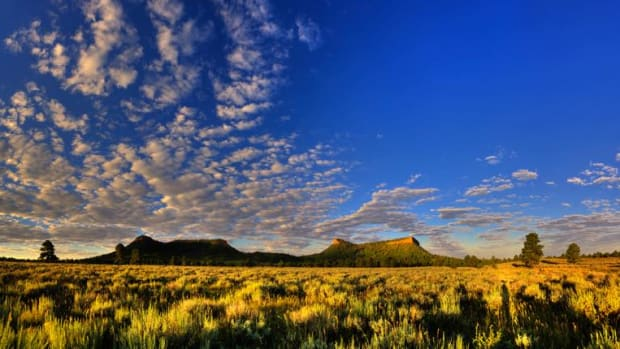 The twin buttes that give the Bears Ears sacred region its name.