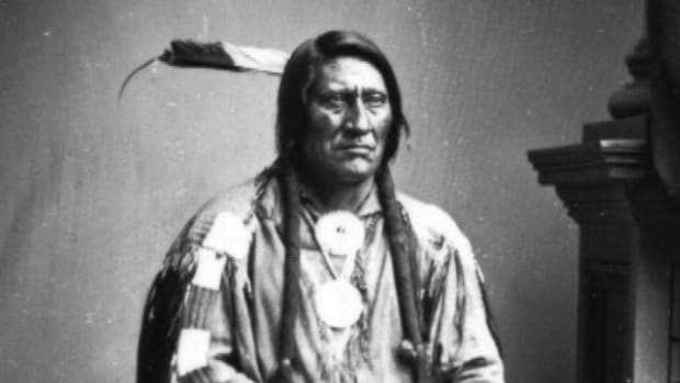 Cheyenne Chief often identified as Lean Bear photographed in 1863, Washington, D.C.