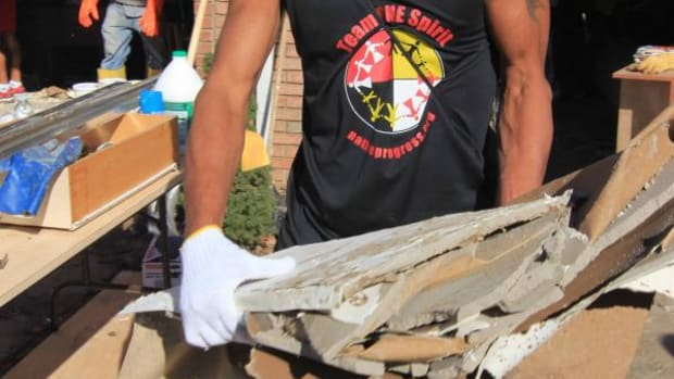 Nupa White Plume, helping Hurricane Sandy relief efforts