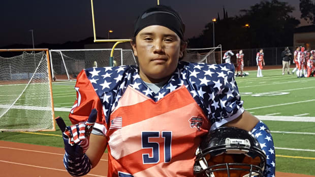 Nathan Zuniga of the Iipay Nation of Santa Ysabel became the first Native American youth football player from the west to be recognized as a Diamond West Coast All-American. Courtesy Tamra Pau'u