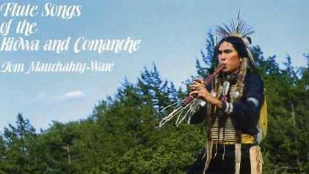 "In 1978, Tom Ware recorded a solo project, ""Flute Songs of the Kiowa and Comanche,"" the cover of which is seen here."