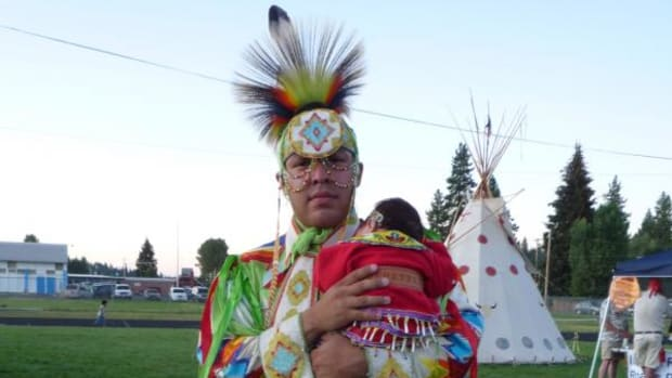 Father, Daughter at the  Klamath Tribes 25th Restoration Celebration August 2011