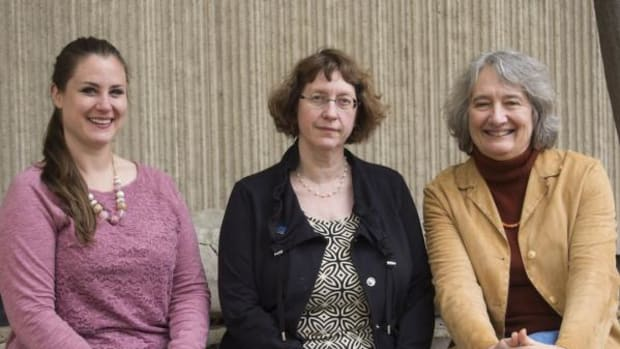 Indiana University researchers awarded a Native American Graves Protection and Repatriation Act training grant are, from left, Jayne-Leigh Thomas, April Sievert and K. Anne Pyburn.