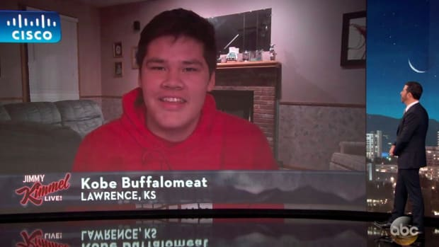 After a tweet from Illinois State went viral about Kobe Buffalomeat, the native player was asked to appear on Jimmy Kimmel. Youtube Screen Capture