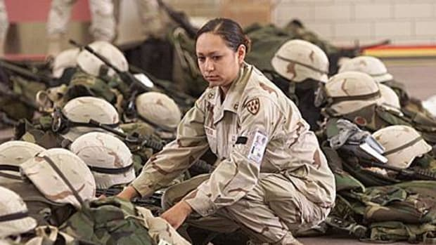 PFC Lori Piestewa waiting for deployment at Fort Bliss, Tex., on February 16, 2003. Just five weeks later she passed into infamy as the first Native American woman killed in combat.