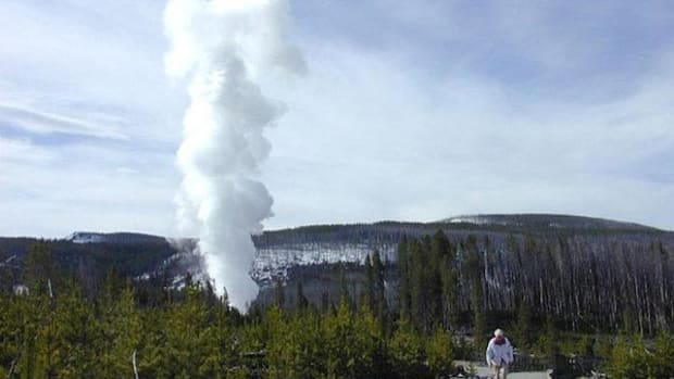 Steamboat Geyser is the world's tallest active geyser, according to the National Park Service.