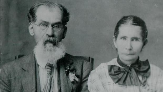 Angus Chavers and his wife Melissa.