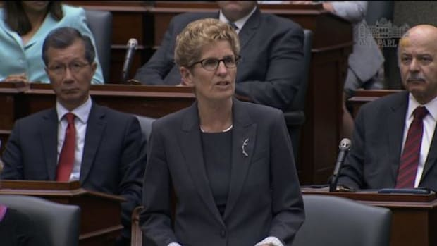 Ontario Premier Kathleen Wynne issues a formal apology to the province's Indigenous Peoples on the floor of the Legislative Assembly on May 30, about a year after the Truth and Reconciliation issued a report calling the 150-year program 'cultural genocide.'