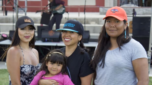 Students and families enjoyed a beautiful day at the IAIA Music Festival.