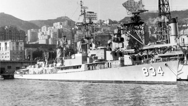 The USS Turner, which Captain Gary Lockee was commander of from 1960 t0 1962 (Image courtesy NavSource.org/Carlo Martinelli)