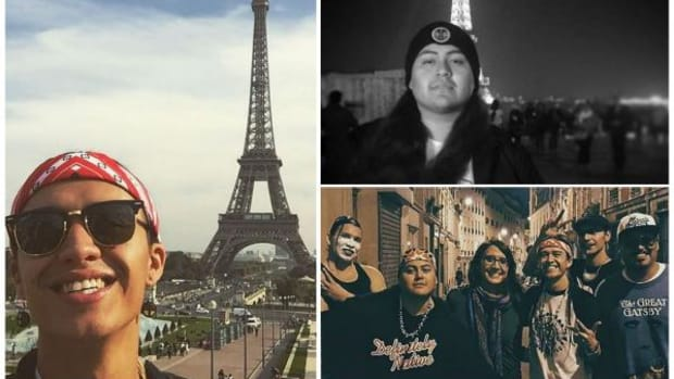 Native hip hop artists Frank Waln and Nataanii Means in Paris - Also with dancers Lumhe Sampson and Samsoche Sampson and filmmakers Sydney Freeland and Steven Paul Judd