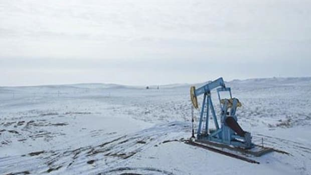 An oil drill on the Bakken Shale formation, both potential boon and bane to numerous tribes.