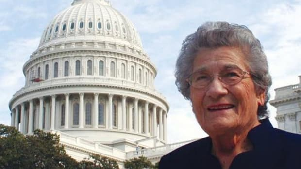 Beaulah Shavney is shown visiting the U.S. Capitol in 2008.