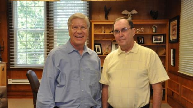 Choctaw Nation Chief Gregory E. Pyle (left) and Judge Farrell Hatch of Bryan County District Court. The Choctaw Nation is currently providing funds to help support Oklahoma's much-needed Drug Courts.