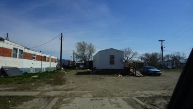Homes in Eagle Butte, South Dakota.