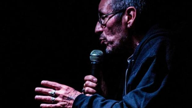 John Trudell speaking in August 2014. Photo by Jason Morgan Edwards.