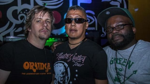 The Jir Project Band, from left, are: Douglas Bellen, Jir Anderson and Kendall Bell.
