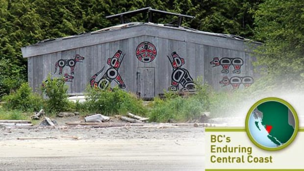 The big house at Koeye, home to a Heiltsuk cultural camp for youth.