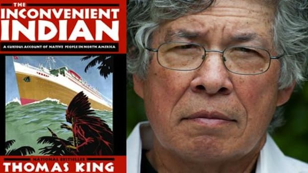 Author Thomas King and his latest book, The Inconvenient Indian