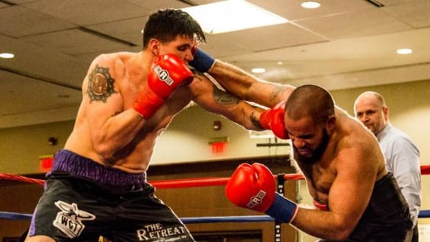 Onondaga boxer Lawrence Gabriel, (Eel Clan) made his professional debut on a brisk Saturday night in Liverpool, NY at the Holiday Inn Convention Center. Lawrence's win in a four-round,unanimous decision comes one year after he was shot four times.