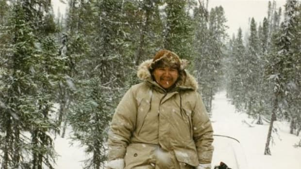 This photo of Randy Kapeshesit was taken during the spring hunt in 1996.