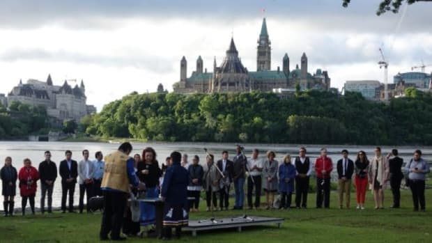 A summer solstice ceremony was held on the shore of the Ottawa River in Gatineau, behind the Canadian Museum of History, on June 21, 2017 to celebrate National Aboriginal Day. Starting in 2018 it will be known as National Indigenous Peoples Day.