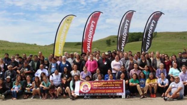 Lakota Summer Institute attendees, teachers, staff and organizers. This year the Institute hosted around 120 participants.