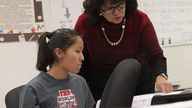 Navajo Technical University Early Childhood Multicultural Education instructor Della Begay helped develop the curriculum for NTU's new B.S. degree. Begay started NTU's early childhood program in 2001 as a 3 credit hour, entry-level introductory course.