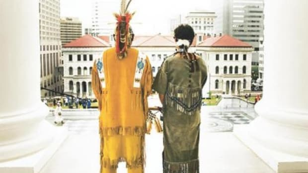 """This image is from the cover of Dennis Kelley's """"Tradition, Performance, and Religion in Native America."""""""