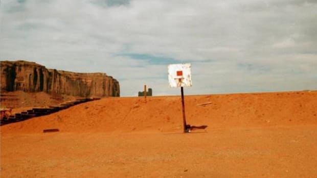 Basketball court, Monument Valley Navajo Tribal Park