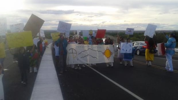 The Pueblo of Sandia took to the streets of Albuquerque on Wednesday September 14 to support the water protectors at Standing Rock in South Dakota.