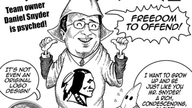 SCOTUS Allows Redskins' Racism, Trademark Protection; cartoon by Marty Two Bulls