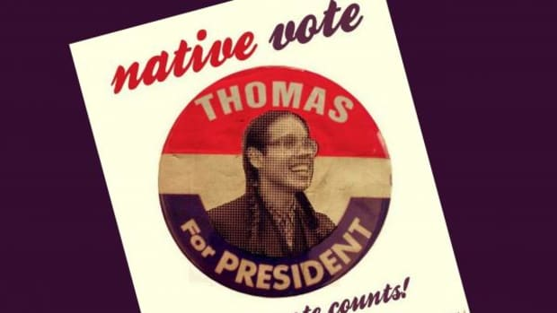 Thomas is the only candidate who really deserves Native support so far.