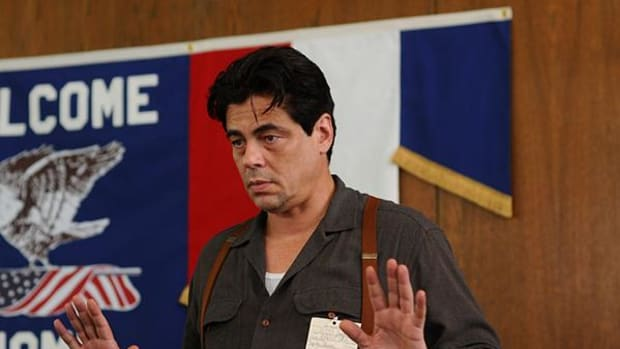 In 'Jimmy P.', Benicio Del Toro plays a Blackfeet Indian who has returned home from World War II and suffers from post-traumatic stress disorder.