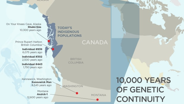 A new study shows genetic links between skeletons found in Alaska and British Columbia and Indigenous Peoples living there today, backing up oral histories.