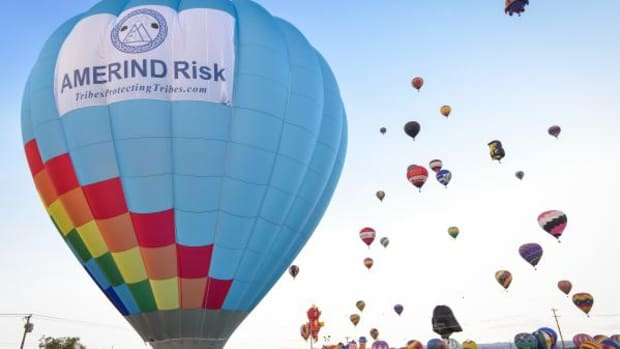 The first-ever AMERIND Risk hot air balloon was released into the New Mexico skies last October during the AMERIND Risk 2015 Institute, which took place in concurrence with the Albuquerque International Balloon Fiesta.