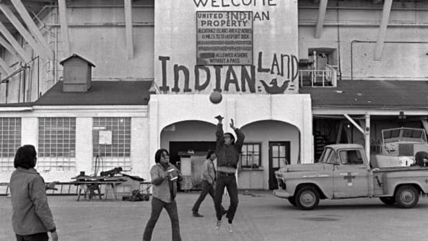 Occupation of Alcatraz, Alcatraz Island, Occupation of Alcatraz Island, Federal Indian Policy, LaNada Boyer, Richard Oakes, Native American Students, American Indian Students, American Indian Movement, AIM, President Richard Nixon, Richard Nixon, Treaty Land, Treaty Rights, Treaty of Fort Laramie, Hotel Alcatraz, Grace Thorpe, Jim Thorpe, LaNada Means, Sen. Barry Goldwater, Assimilation, Genocide, Human Rights, Native American History, Termination Policy, Indian Land, California Indian Education Association, Native American Education, Indians of All Tribes, General Services Administration, Sac and Fox Tribe, Richard Oakes