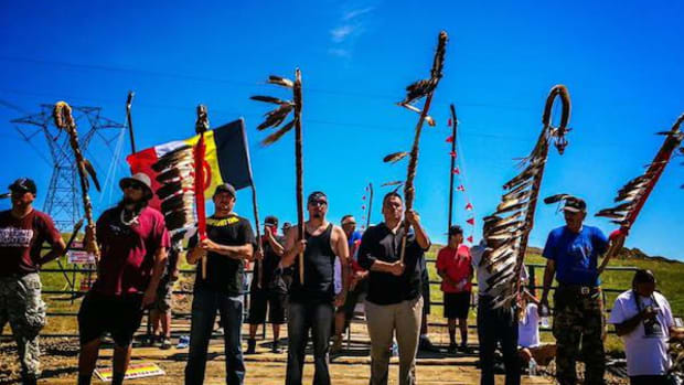 The Camp of the Sacred Stones has swelled from a few dozen to more than 2,500, according to Standing Rock Sioux Tribe officials. They are calling for further review of the Dakota Access oil pipeline, approved by the U.S. Army Corps of Engineers at the end of July without a full environmental assessment.